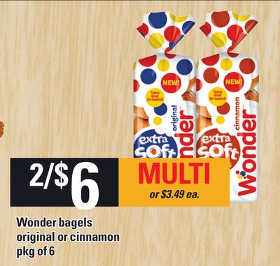 Wonder Bagels Original Or Cinnamon - Pkg Of 6