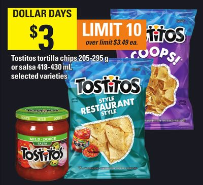 Tostitos Tortilla Chips 205-295 G Or Salsa 418-430 Ml