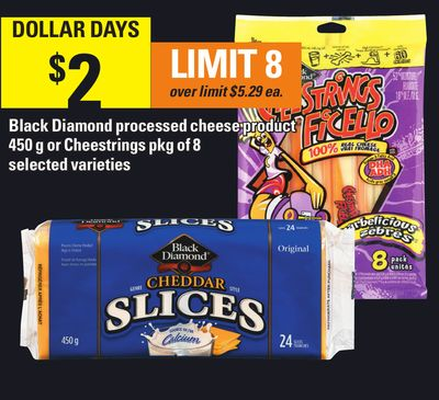 Black Diamond Processed Cheese Product 450 g Or Cheestrings Pkg of 8