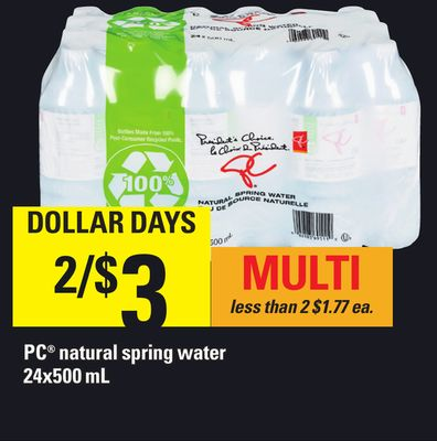 PC Natural Spring Water