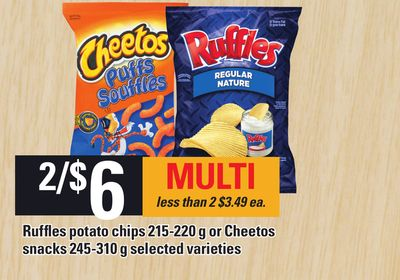 Ruffles Potato Chips 215-220 g Or Cheetos Snacks 245-310 g