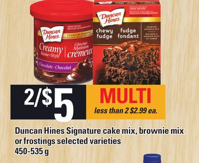 Duncan Hines Signature Cake Mix - Brownie Mix Or Frostings