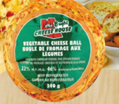 Bright's Jalapeño Or Vegetable Cheese Ball - 340 G