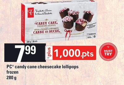 PC Candy Cane Cheesecake Lollipops