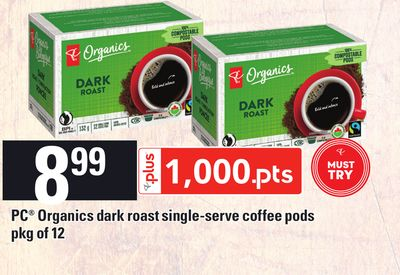 PC Organics Dark Roast Single-serve Coffee PODS