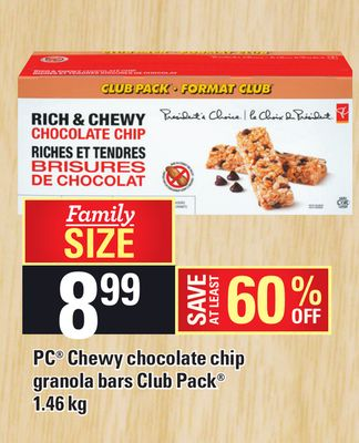 PC Chewy Chocolate Chip Granola Bars Club Pack