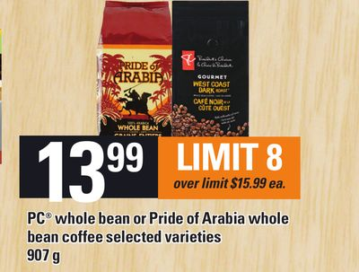 PC Whole Bean Or Pride Of Arabia Whole Bean Coffee