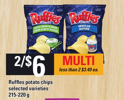 Ruffles Potato Chips - 215-220 g