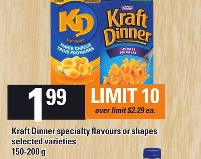 Kraft Dinner Specialty Flavours Or Shapes - 150-200 G