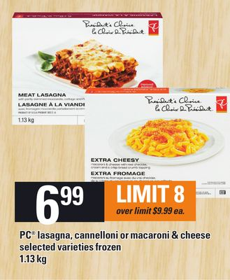 PC Lasagna - Cannelloni Or Macaroni & Cheese 1.13 Kg