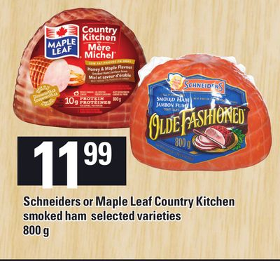 Schneiders Or Maple Leaf Country Kitchen Smoked Ham - 800 g