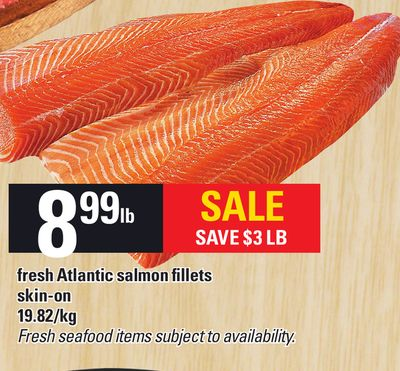 Fresh Atlantic Salmon Fillets Skin-on