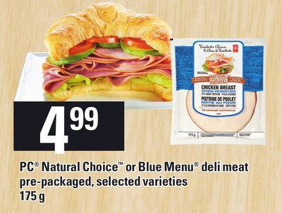PC Natural Choice Or Blue Menu Deli Meat - 175g