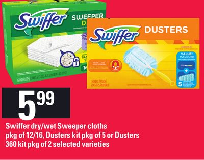 Swiffer Dry/wet Sweeper Cloths - Pkg of 12/16 - Dusters Kit - Pkg of 5 - Or Dusters 360 Kit - Pkg of 2
