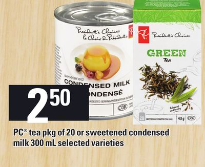 PC Tea Pkg Of 20 Or Sweetened Condensed Milk 300 Ml