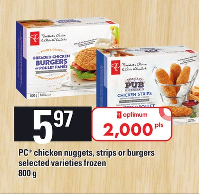 PC Chicken Nuggets - Strips Or Burgers Frozen 800g