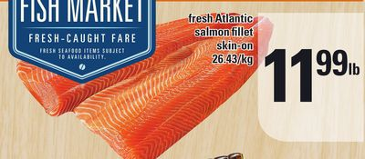 Fresh Atlantic Salmon Fillet Skin-on