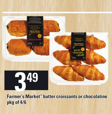 Farmer's Market Butter Croissants or Chocolatine