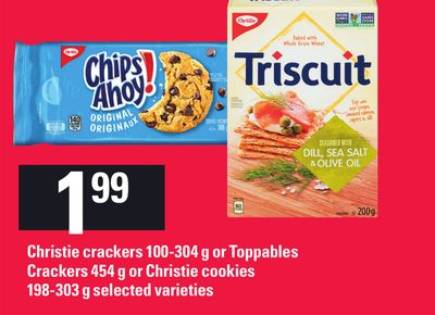 Christie Crackers 100-304 G Or Toppables Crackers 454 G Or Christie Cookies 198-303 G