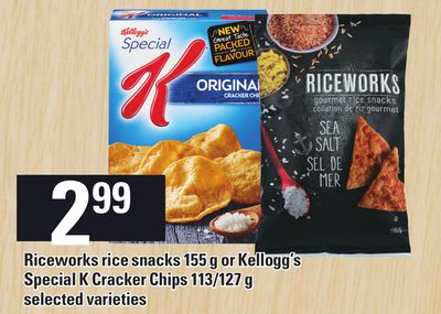 Riceworks Rice Snacks 155 g Or Kellogg's Special K Cracker Chips 113/127 g