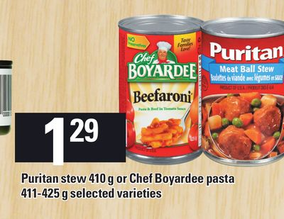 Puritan Stew 410 G Or Chef Boyardee Pasta - 411-425 g