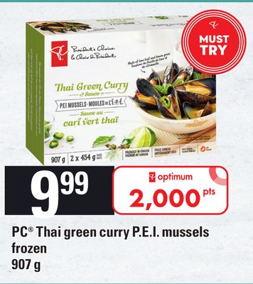 PC Thai Green Curry P.e.i. Mussels - 907 g