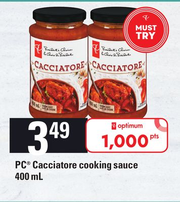 PC Cacciatore Cooking Sauce - 400 mL