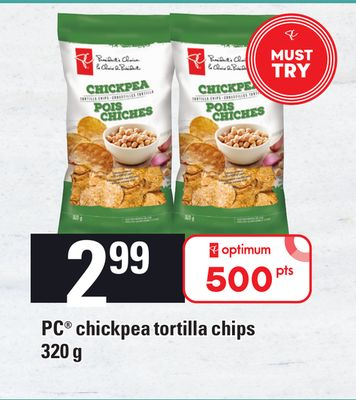 PC Chickpea Tortilla Chips 320 G