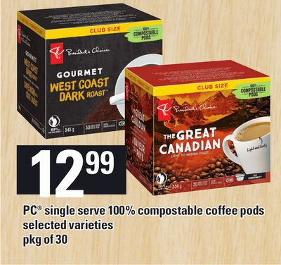PC Single Serve 100% Compostable Coffee PODS