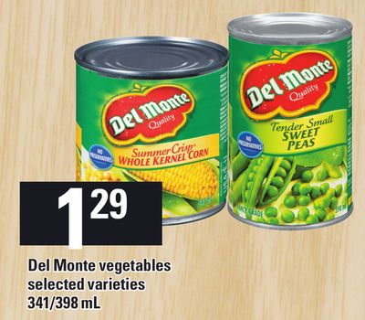Del Monte Vegetables - 341/398 mL