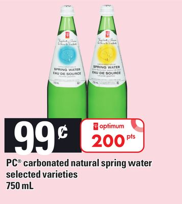 PC Carbonated Natural Spring Water - 750 mL