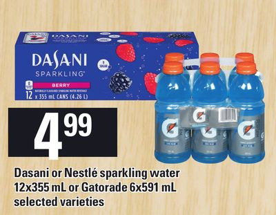 Dasani Or Nestlé Sparkling Water 12x355 Ml Or Gatorade 6x591 Ml