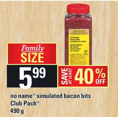 No Name Simulated Bacon Bits - 490 g