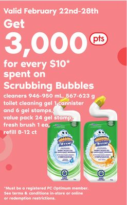 Scrubbing Bubbles Cleaners 946-950 Ml - 567-623 G Toilet Cleaning Gel 1 Cannister And 6 Gel Stamps - Value Pack 24 Gel Stamp - Fresh Brush 1 Ea - Refill 8-12 Ct