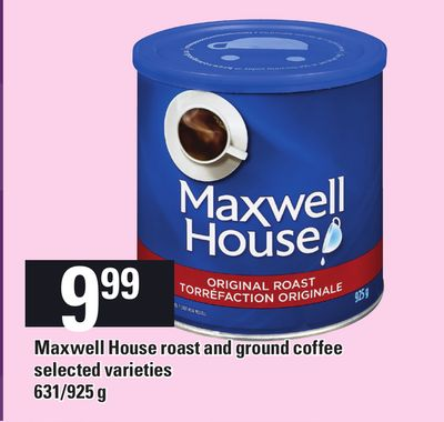Maxwell House Roast And Ground Coffee - 631/925 g