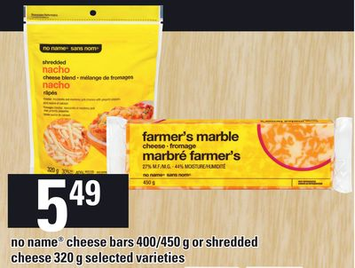 No Name Cheese Bars 400/450 G Or Shredded Cheese - 320 G