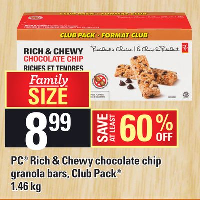 PC Rich & Chewy Chocolate Chip Granola Bars - 1.46 Kg