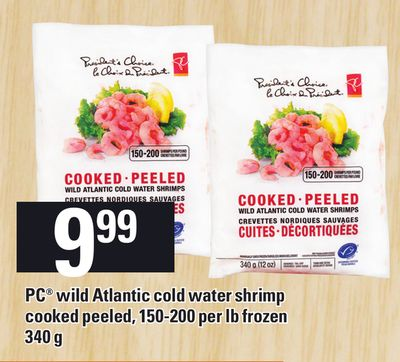 PC Wild Atlantic Cold Water Shrimp Cooked Peeled - 150-200 Per Lb Frozen - 340 G