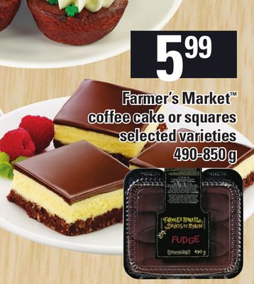 Farmer's Market Coffee Cake Or Squares - 490-850g