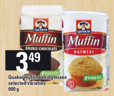 Quaker Muffin Baking Mixes - 900 g