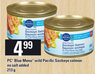 PC Blue Menu Wild Pacific Sockeye Salmon - 213 g