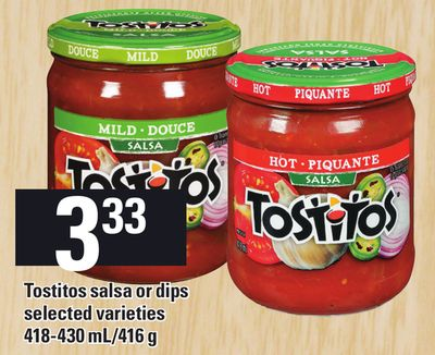 Tostitos Salsa Or Dips - 418-430 Ml/416 g