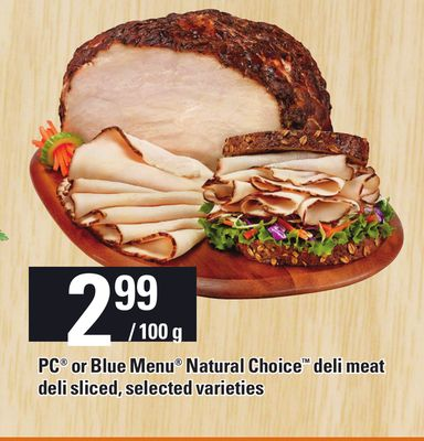 PC Or Blue Menu Natural Choice Deli Meat Deli Sliced