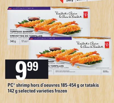 PC Shrimp Hors D'oeuvres 185-454 G Or Tatakis - 142 g