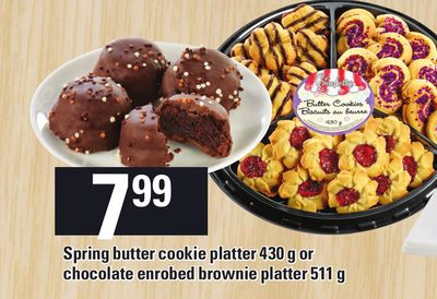 Spring Butter Cookie Platter 430 g Or Chocolate Enrobed Brownie Platter - 511 g