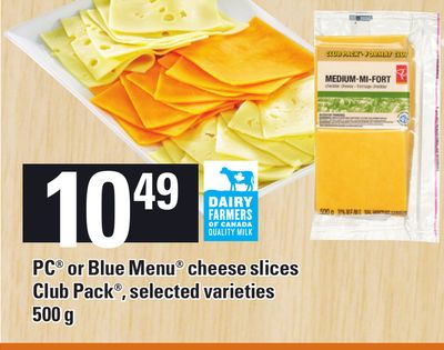 PC Or Blue Menu Cheese Slices Club Pack - 500 g