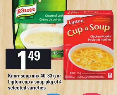 Knorr Soup Mix - 40-83 g Or Lipton Cup A Soup - Pkg Of 4