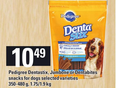 Pedigree Dentastix - Jumbone Or Dentabites Snacks For Dogs - 350-480 g