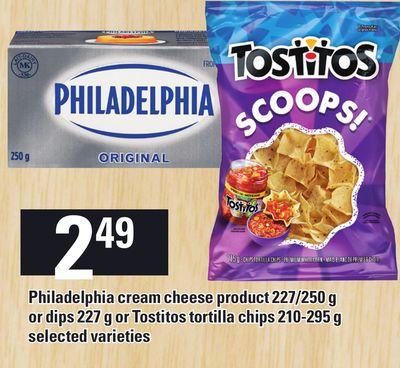 Philadelphia Cream Cheese Product 227/250 g Or Dips 227 g Or Tostitos Tortilla Chips - 210-295 g