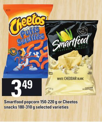 Smartfood Popcorn 150-220 g Or Cheetos Snacks 180-310 g